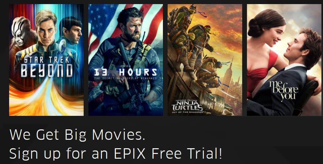 FREE Epix Trial - Stream Movies, Sports, & More for FREE!