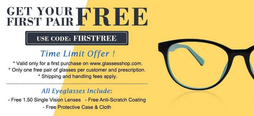 Free Prescription Eye Glasses - Just Pay Shipping!