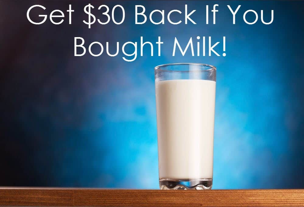 Get Up to $30 Back If You Bought Milk