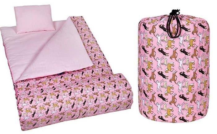 Wildkin Pink Horses Sleeping Bag Only $15.27