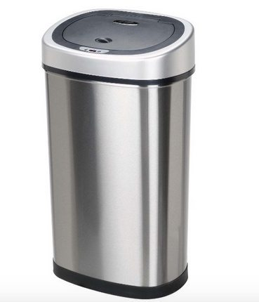 Nine Stars 13.2-Gallon Infrared Touchless Stainless Steel Trash Can $38.50 (Was $82)