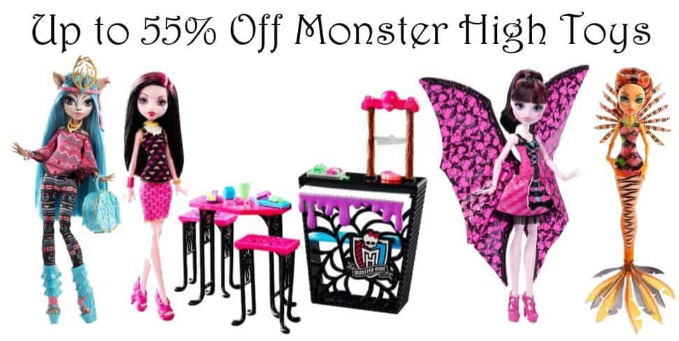 Up to 55% Off Monster High Toys **Today Only**
