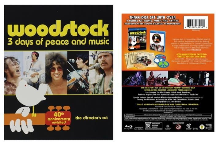 Woodstock 40th Anniversary Limited Edition Revisited Blu-ray Only $5.00 (Was $27.69)
