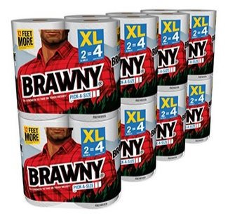 Brawny 16XL Paper Towels (32 Regular Rolls) Pick-A-Size $20.80 ~ 65¢ Per Regular Roll