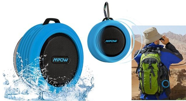 Mpow Buckler Portable Bluetooth Shower Speaker with Mic Only $10.99
