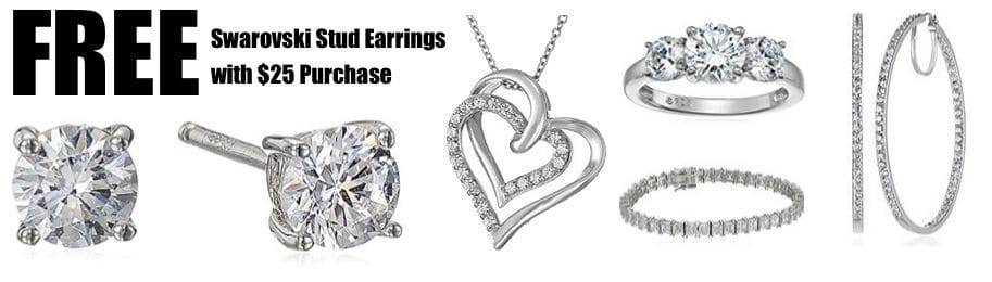 FREE Swarovski Zirconia Stud Earrings with $25 Purchase **Today Only**