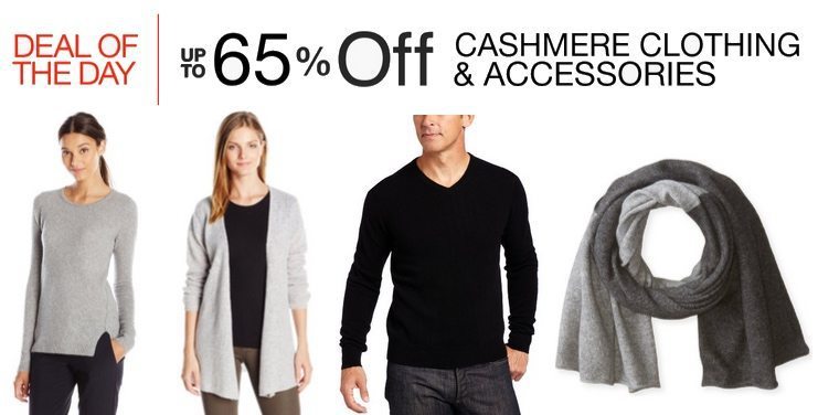 Up to 65% Off Cashmere Clothing & Accessories **Today Only**