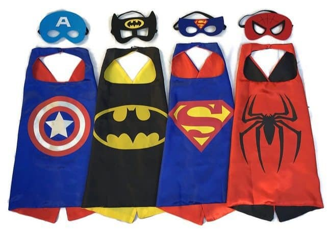 Set of 4 Superhero Cape & Mask Costumes Only $13.99 Shipped