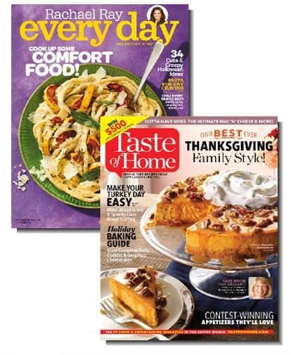 Rachael Ray & Taste of Home Bundle Only $8.99 **$4.49 Each**