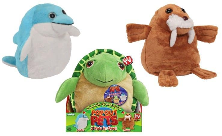 Pop Out Pets Ocean Reversible Plush Toy ~ Get 3 Stuffed Animals in One Only $8 (Was $20)