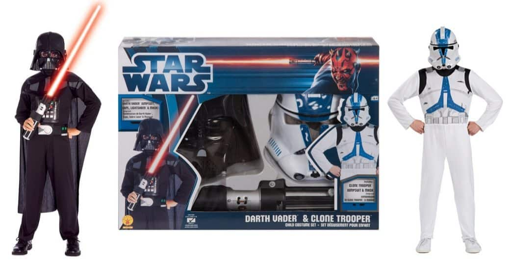 Star Wars Darth Vader & Clone Trooper Costume Set Only $19.95