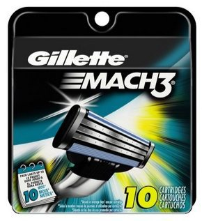Gillette Mach3 Men's Razor Blade Refills 10 Count Only $7.07 Shipped