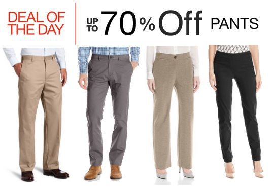 Up to 70% Off Men's and Women's Pants **Today Only**