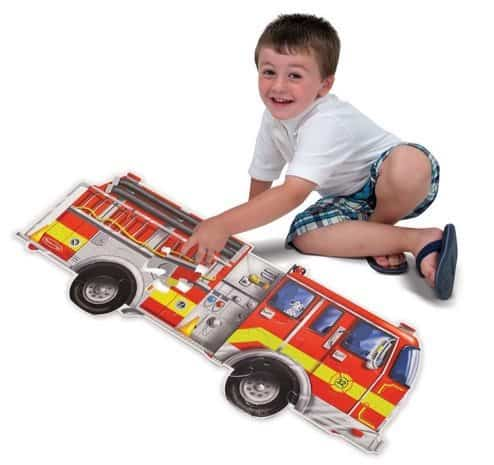 Melissa & Doug Giant Fire Truck Floor Puzzle $6.99 **5 Stars**