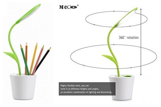 Flexible Neck 3-Level Dimmer LED Desk Lamp and Pencil Holder Only $8.99