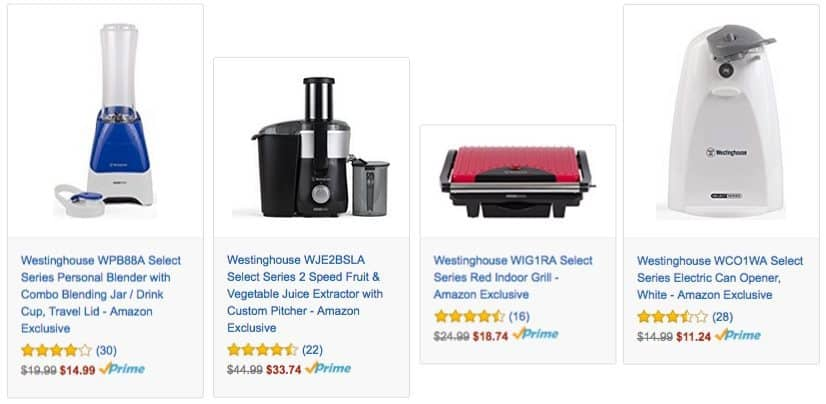 Save on Westinghouse Kitchen Appliances ~ Prices staring at $11.24 **Today Only**