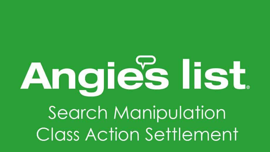 Angie's List Class Action Settlement - Get $15 in Cash Back