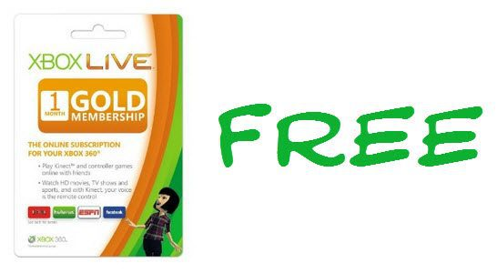 FREE Xbox Live Gold Gold 1-Month Trial