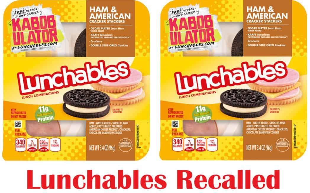 Recall Alert: Lunchables Ham & Cheese Snacks