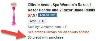 Gillette Venus Razor with 2 Cartridges FREE w/ $25 Purchase!