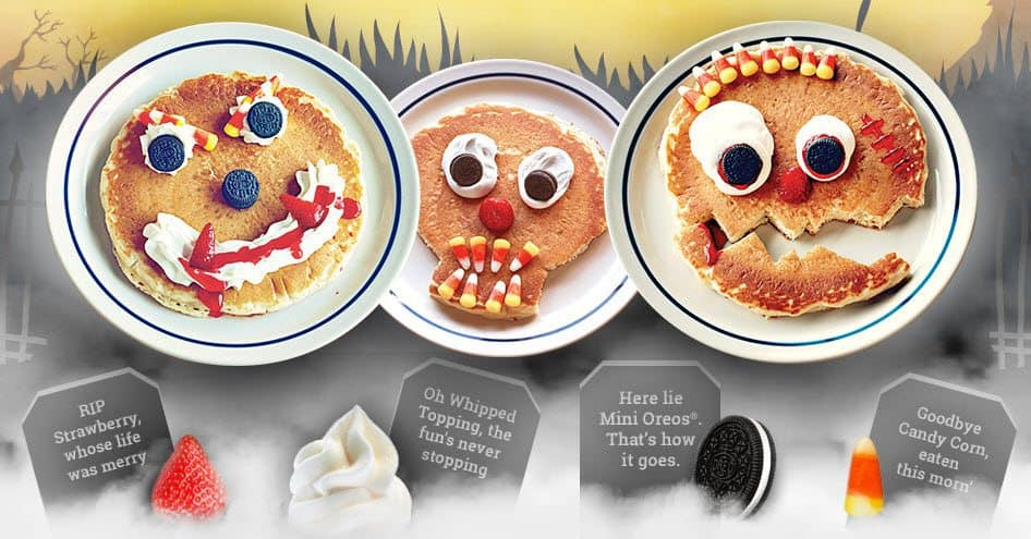 FREE Scary Face Pancake For Kids on 10/31 at iHop