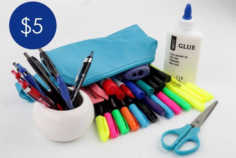 36 Piece School Supplies Kit (3rd - 5th Grade) $5.00 w/ Free Pick Up at Walmart