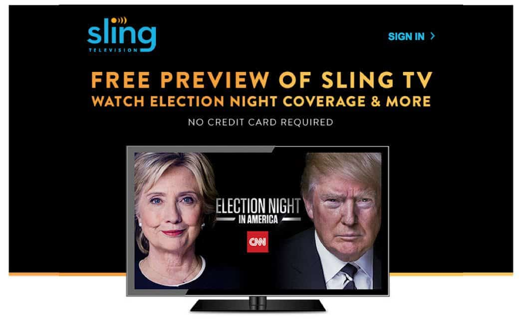 FREE Sling TV for Election Day