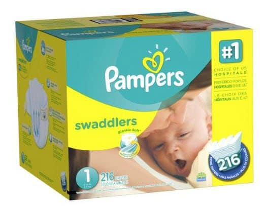 Pampers Swaddlers Diapers Size 1 (216 Count) for $17.47 - 8¢ Per Diaper or Less!