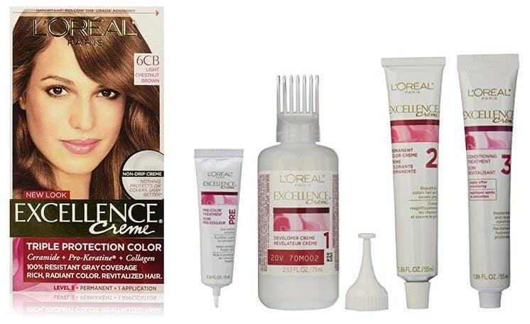 L'Oreal Paris Excellence Creme, 6CB Light Chestnut Brown $1.90 Shipped