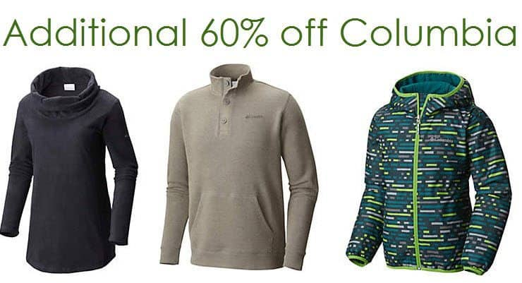 Columbia Thanksgiving Sale: Extra 60% Off Select Items + Free Shipping