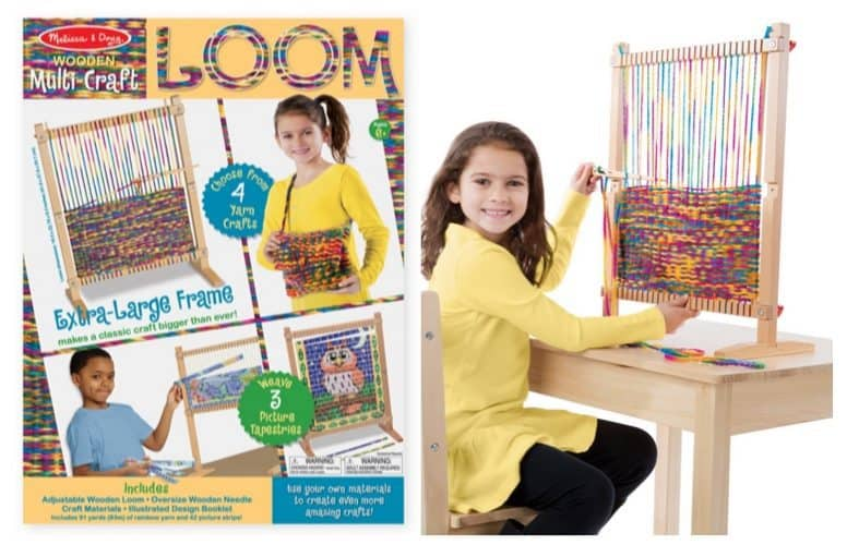 Melissa & Doug Wooden Multi-Craft Weaving Loom Only $17.59