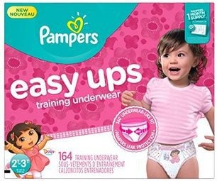 Pampers Girl's Easy Ups 164 Count $22.13 Shipped **Only 13¢ Each**
