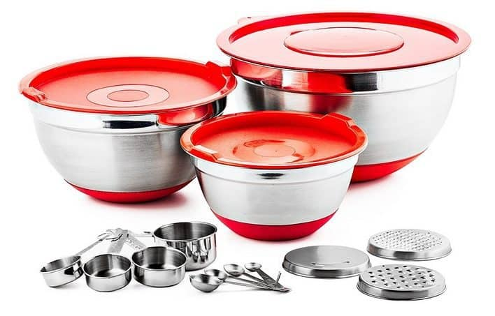 Chef's Star 17 Piece Stainless Steel Mixing Bowl Set Only $21.99 (Was $70)