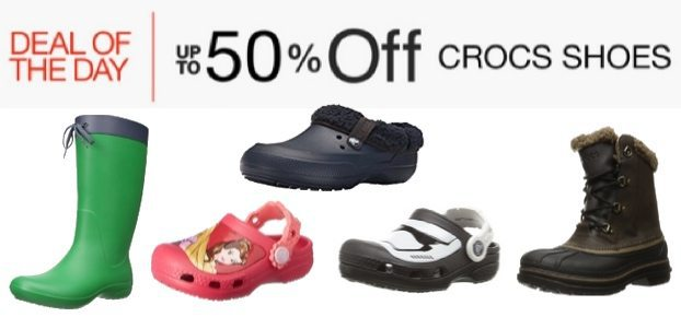 Up to 50% Off Crocs Shoes **Today Only**
