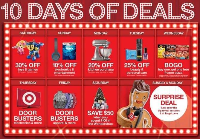 Target: 10 Days of Doorbuster Deals In Store & Online