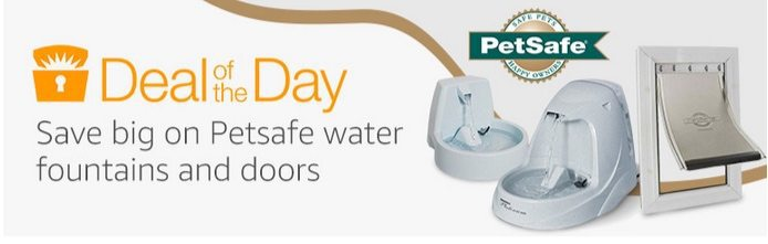 Up to 62% Off PetSafe Water Fountains and Doors **Today Only**