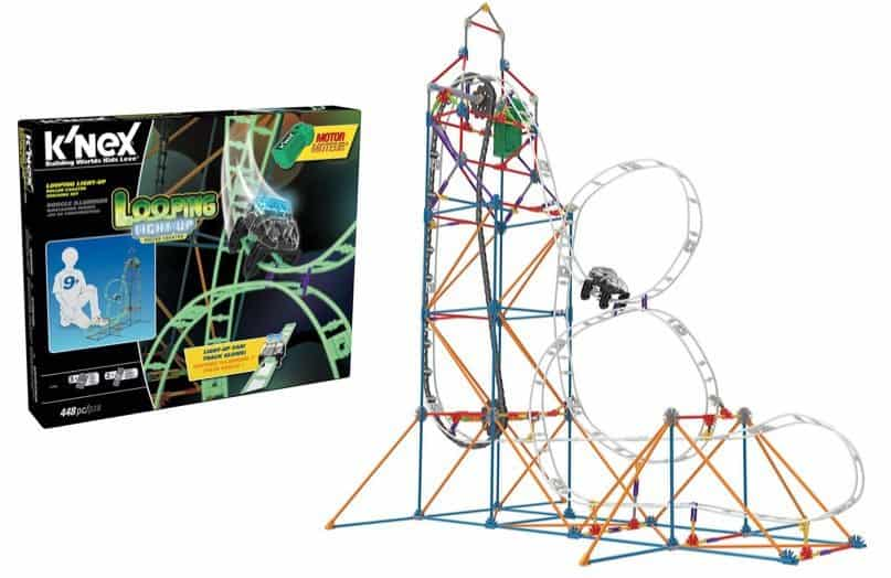 K'NEX Looping Light-Up Roller Coaster 448 Pieces Building Set Only $26.99