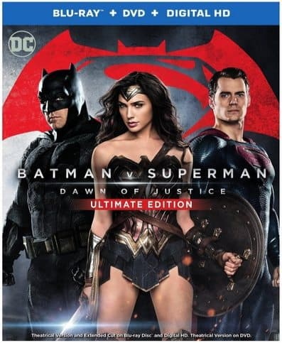 Batman v Superman: Dawn of Justice Blu-ray Combo Pack Only $8.99 (Was $36)