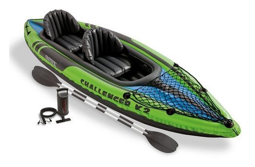 Intex K2 Challenger 2-Person Inflatable Kayak Set $69.99 **Today Only**