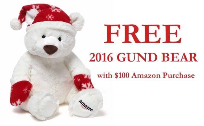 Free Gund Bear with $100 Amazon Toys Purchase