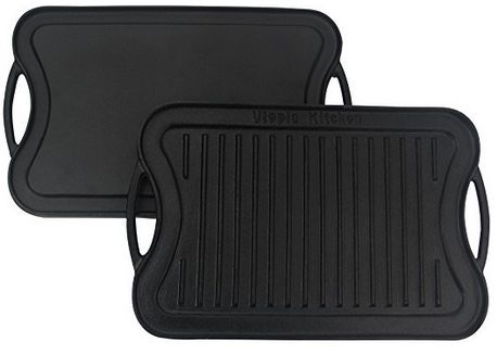 Utopia Kitchen Reversible Cast Iron Grill Griddle $21.99 (Was $60)