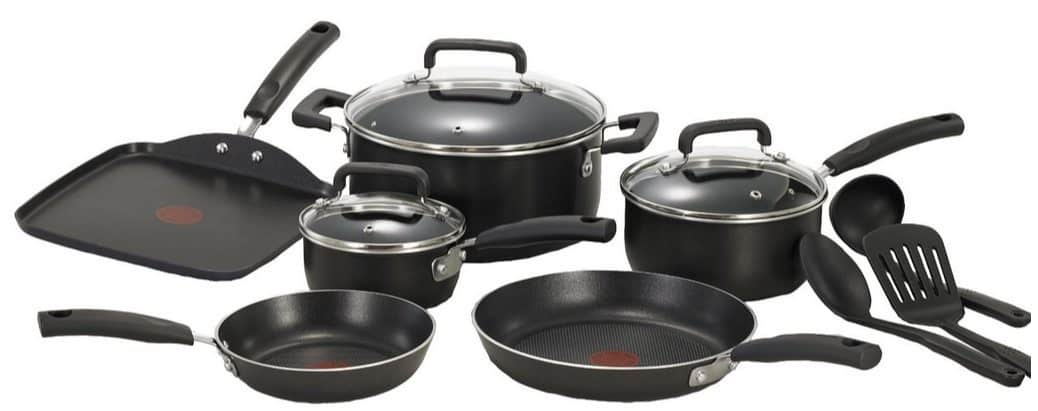 T-fal Signature Nonstick Thermo-Spot Heat Indicator 12 Piece Cookware Set $39.99 (Was $76)