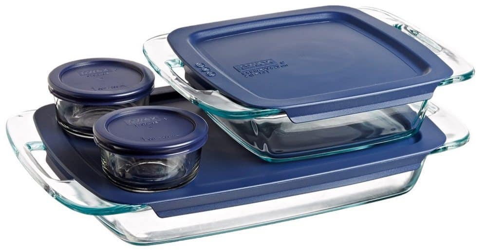 Pyrex Easy Grab 8-Piece Glass Bakeware and Food Storage Set Only $12.79