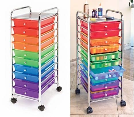 Seville Classics 10-Drawer Organizer Cart $24.98