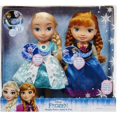 HURRY! Disney Frozen Singing Sisters Elsa and Anna Dolls $35 (Was $70)