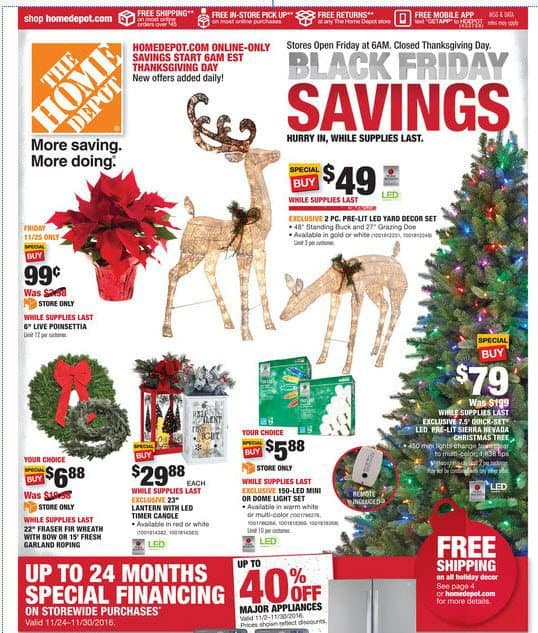 2016 Home Depot Black Friday Ad is FINALLY Out