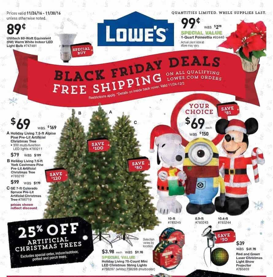 2016 Lowe's Black Friday Ad + Full List of Deals