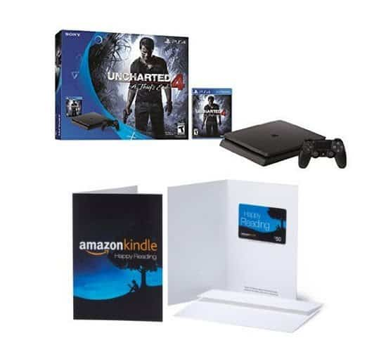 HURRY! PlayStation 4 Slim 500GB Uncharted 4 Bundle + $50 Amazon Gift Card - Only $249 Shipped