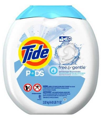 Tide PODS Free & Gentle HE Laundry Detergent Pacs 18¢ Per Load