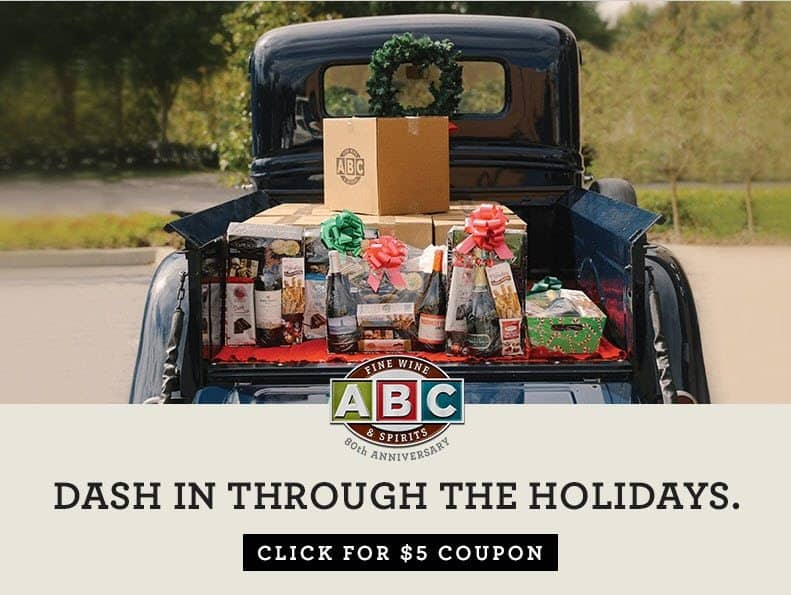 RARE $5 off $25 ABC Fine Wine & Spirits Coupon